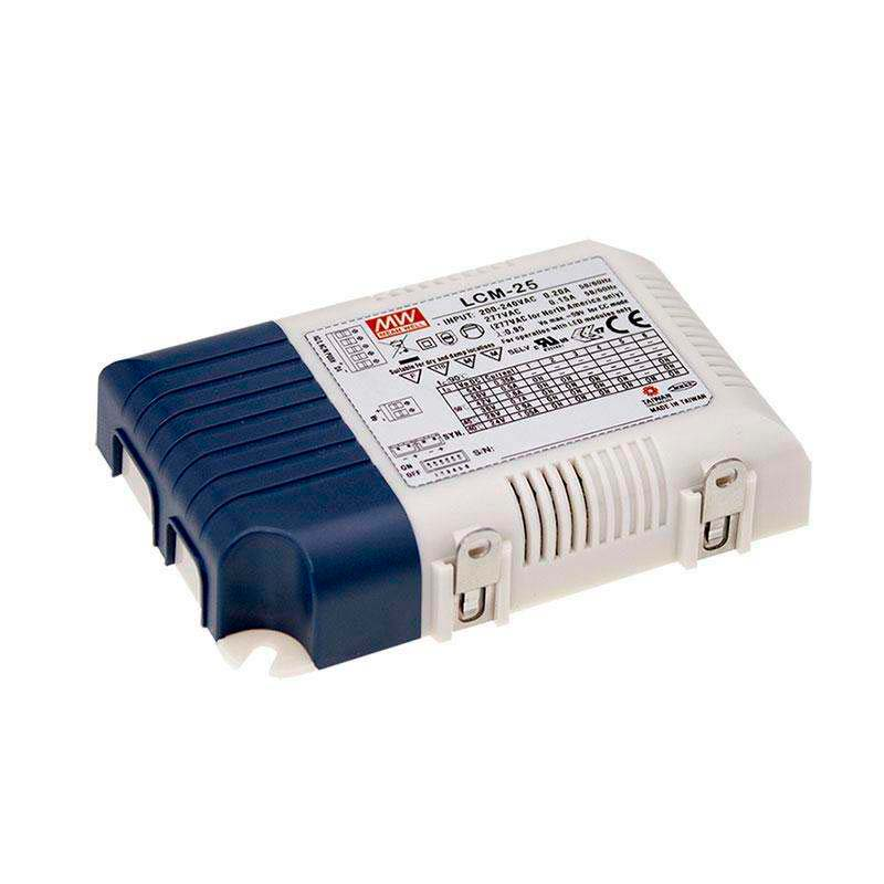 LED Driver MEAN WELL Ajustable LCM-25, 0-10V, PWM, Regulable